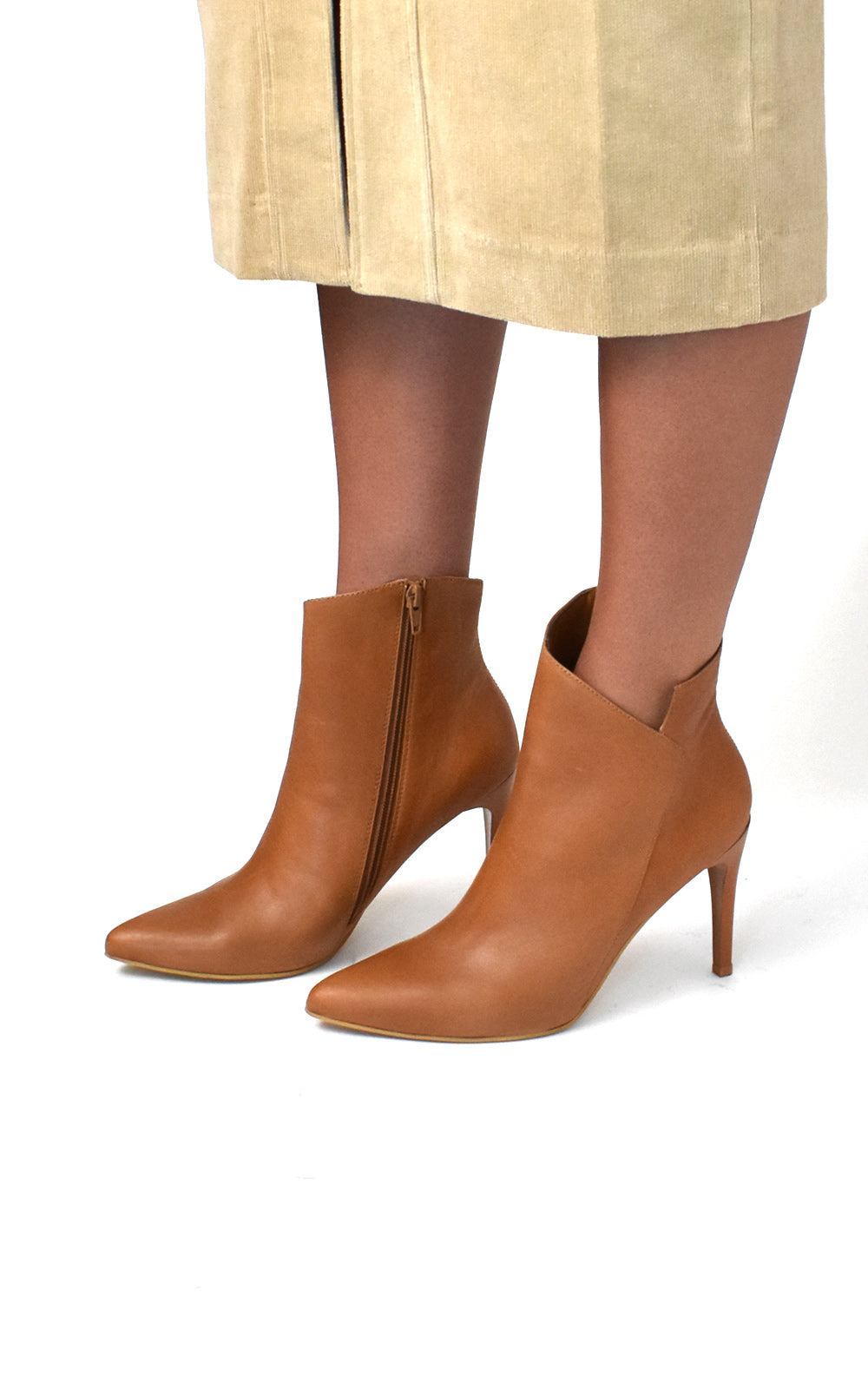 Radiance Stiletto Tanned Leather Bootie