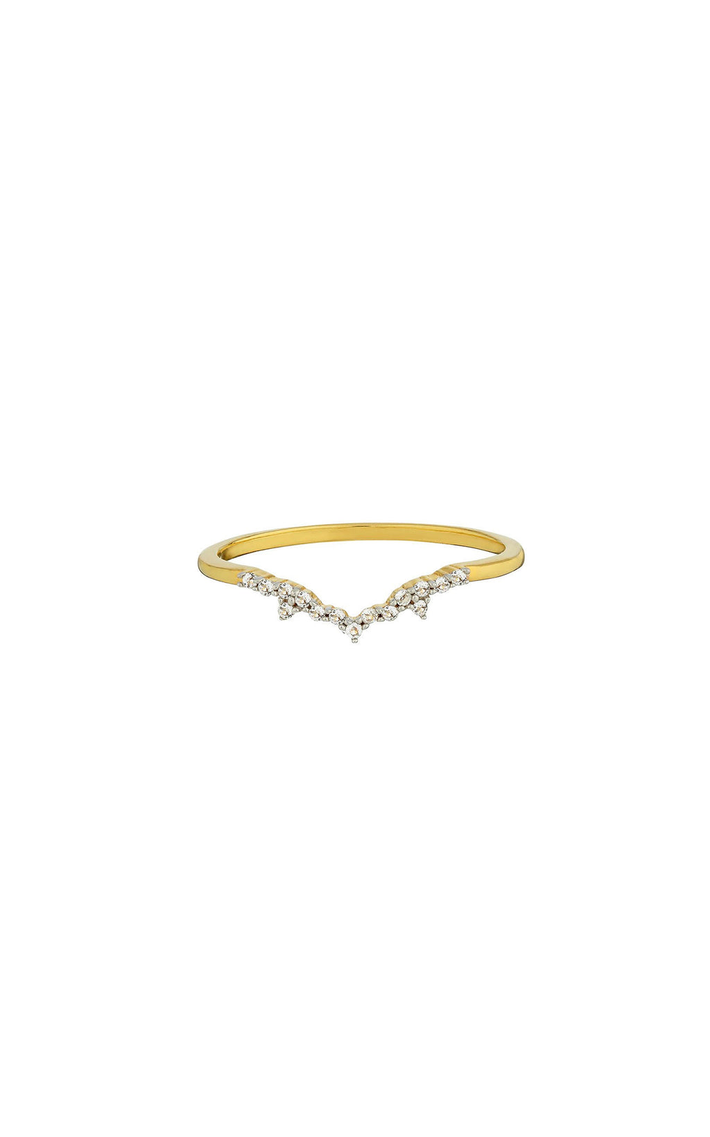 Carrie Elizabeth Milky Way 14k Gold Vermeil Diamond Ring