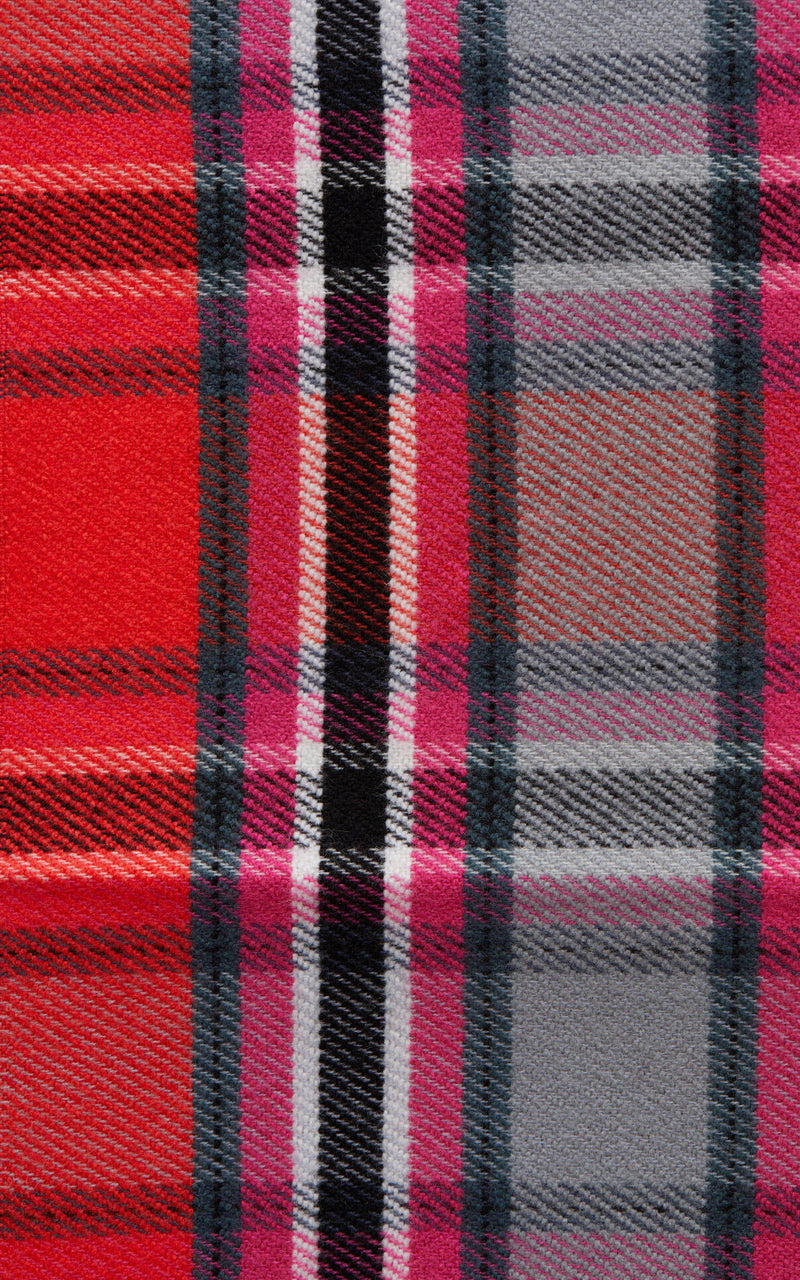 CLOSED Red Plaid Wool Scarf