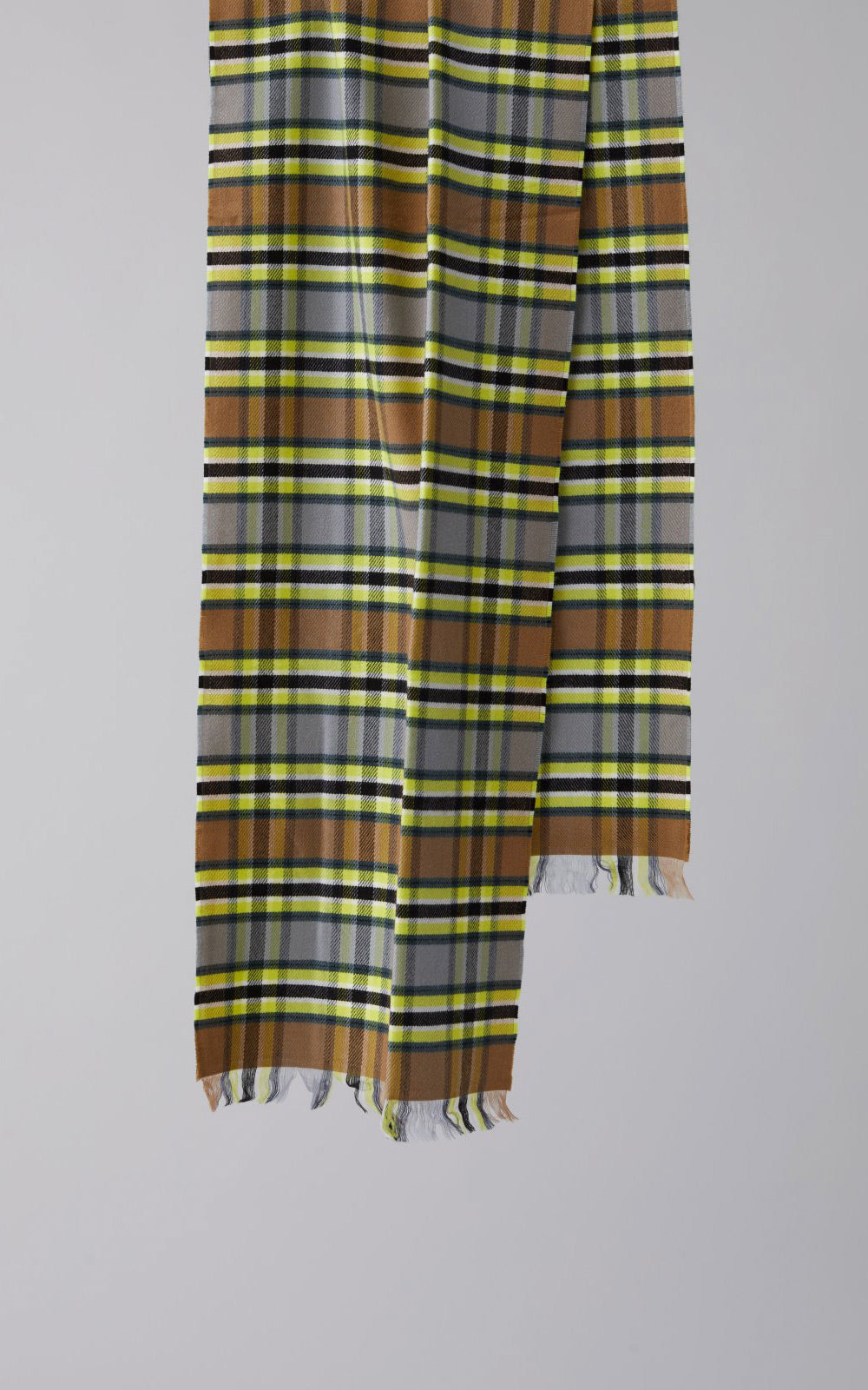 CLOSED Yellow Plaid Wool Scarf