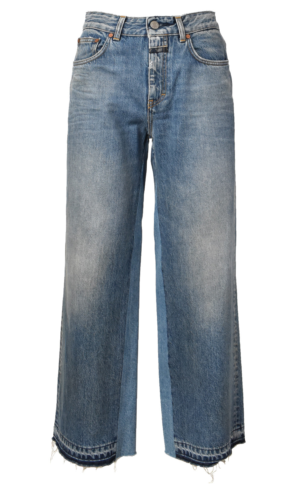 CLOSED Glow Contrast Denim Insert Jeans Mid Blue