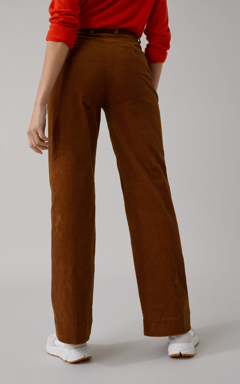CLOSED Lyn Tobacco Brown Wide-Leg Corduroy Pants