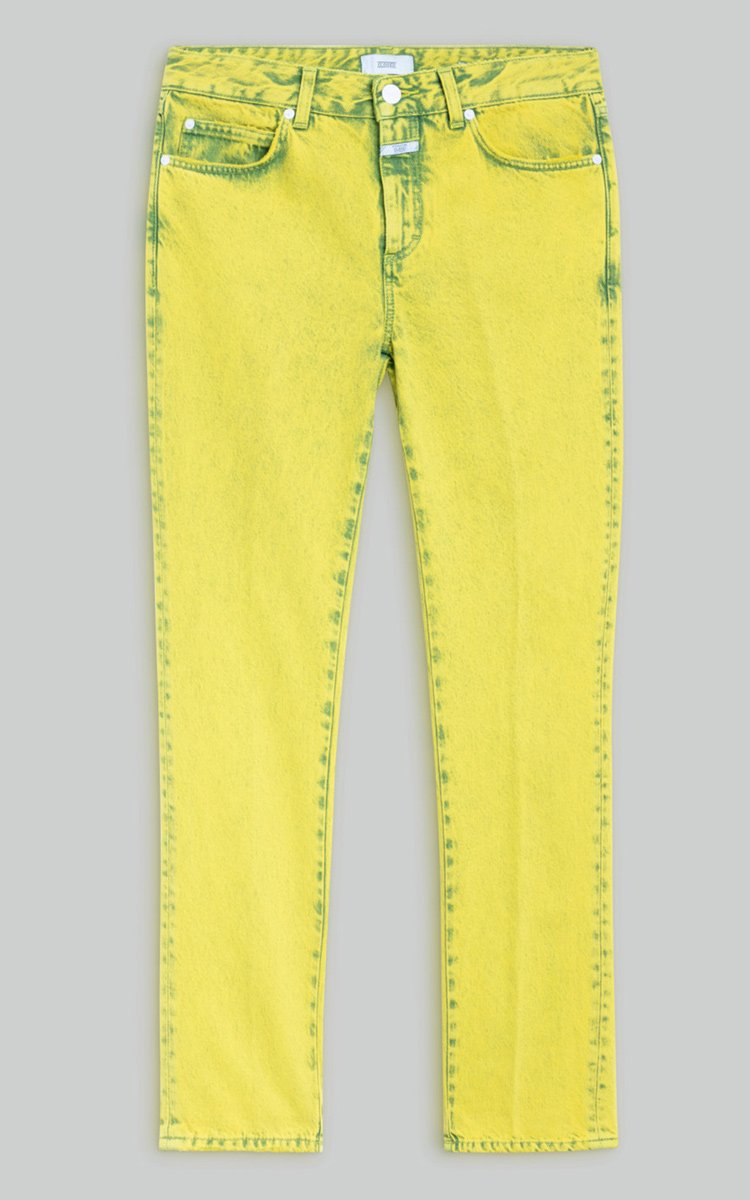 Jay Lemon Peel Yellow Overdyed Relaxed Fit Straight Leg Jeans