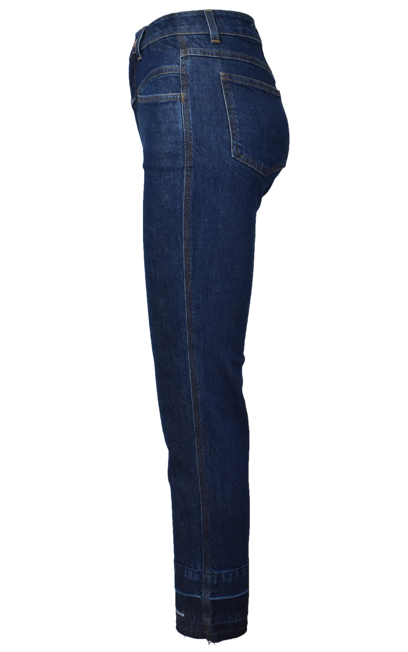 CLOSED High Waisted Dark Blue Denim Pedal Pusher Jeans