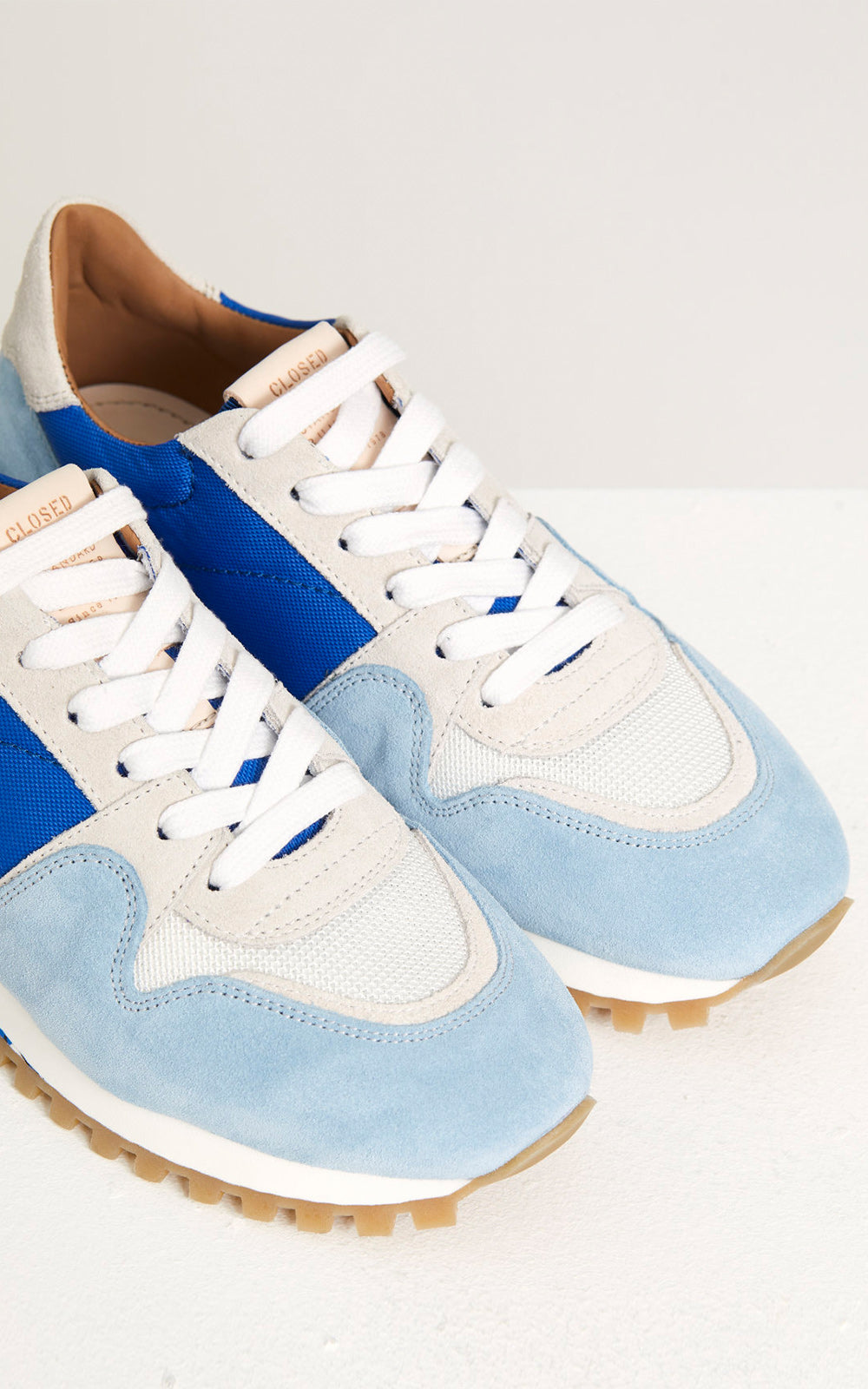 CLOSED Tech Blue, Light Blue, & Camo Runner Sneakers