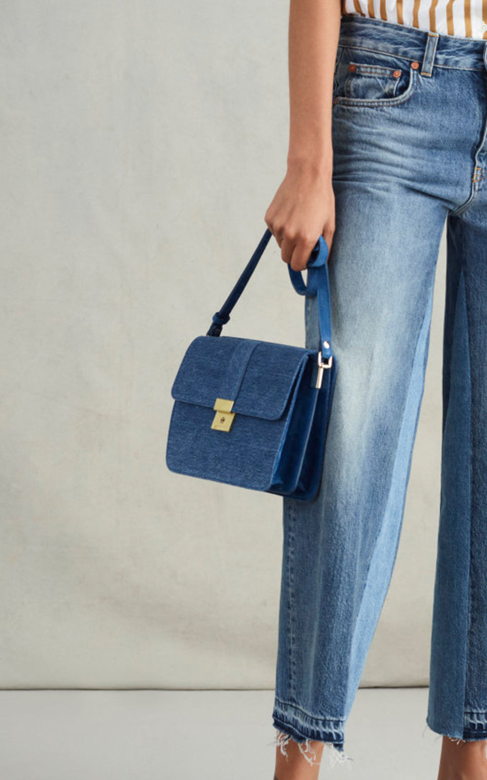 Two Faces Denim & Suede Bag