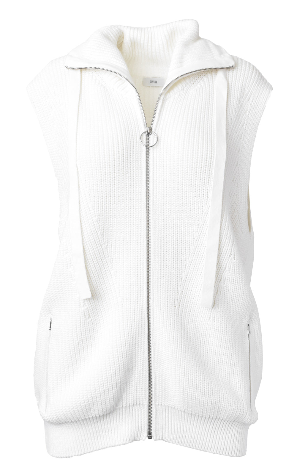 Sleeveless Zip Cardigan