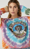 Daydreamer The Grateful Dead Skull And Roses Tie Dye Long Sleeve Crop
