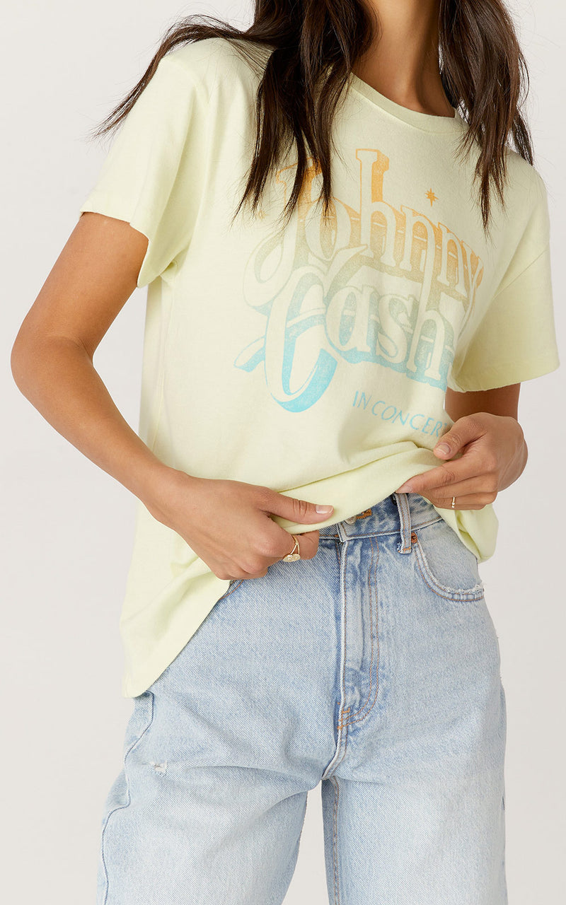 Daydreamer Johnny Cash A Thing Called Love Tour Tee | Tender Yellow
