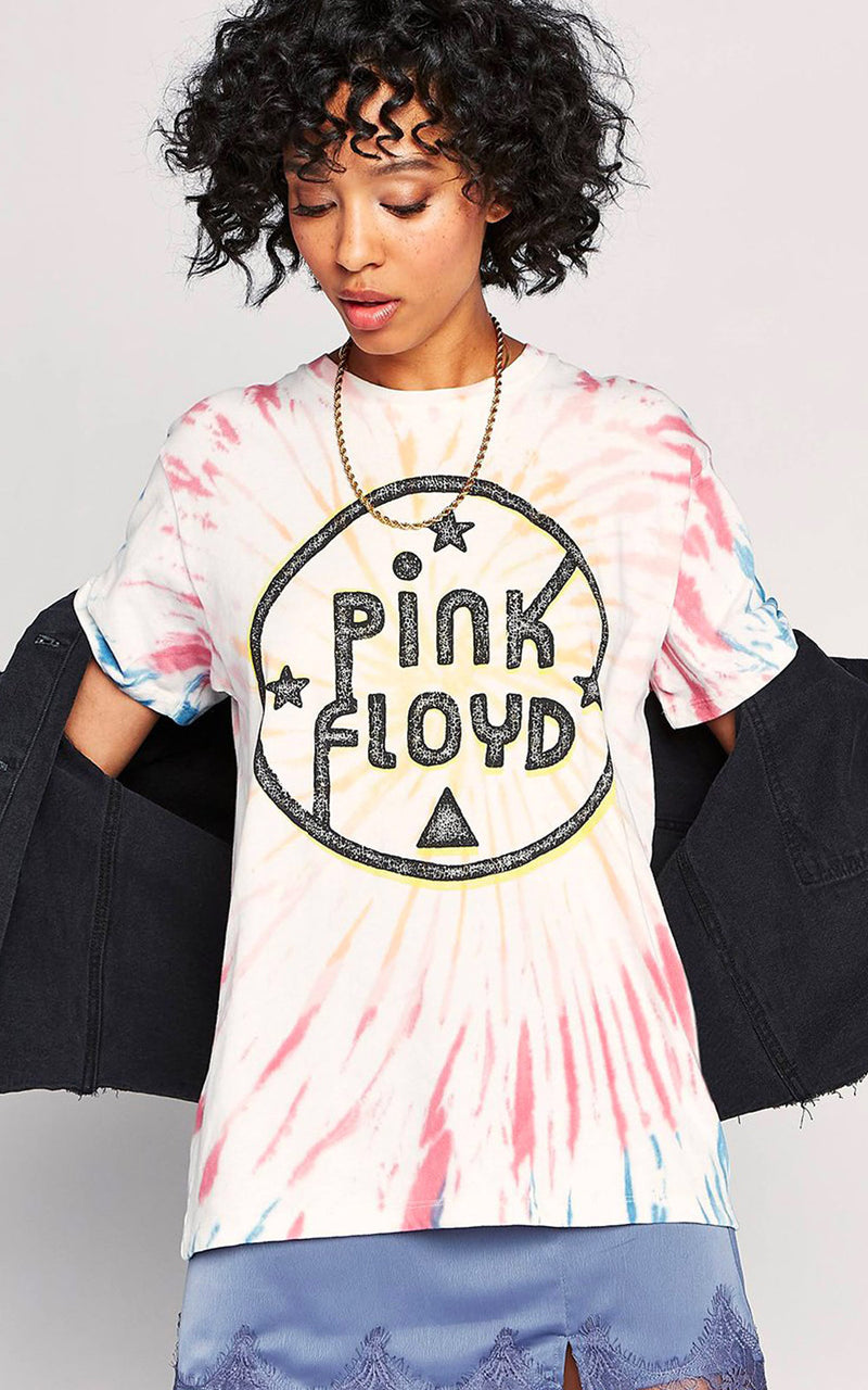 Daydreamer Pink Floyd Eclipse Kaleidoscope Tie-Dye Weekend Band Tee