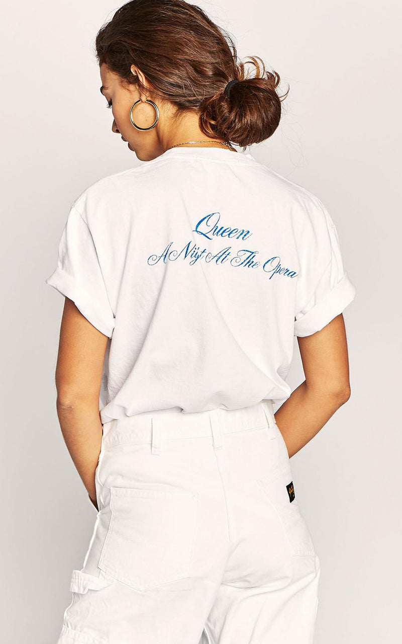 Daydreamer White Queen A Night At The Opera Boyfriend Band Tee