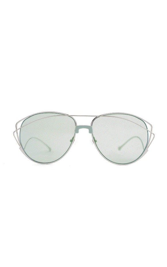 For Art's Sake Mint Green Dark Eyes Sunglasses