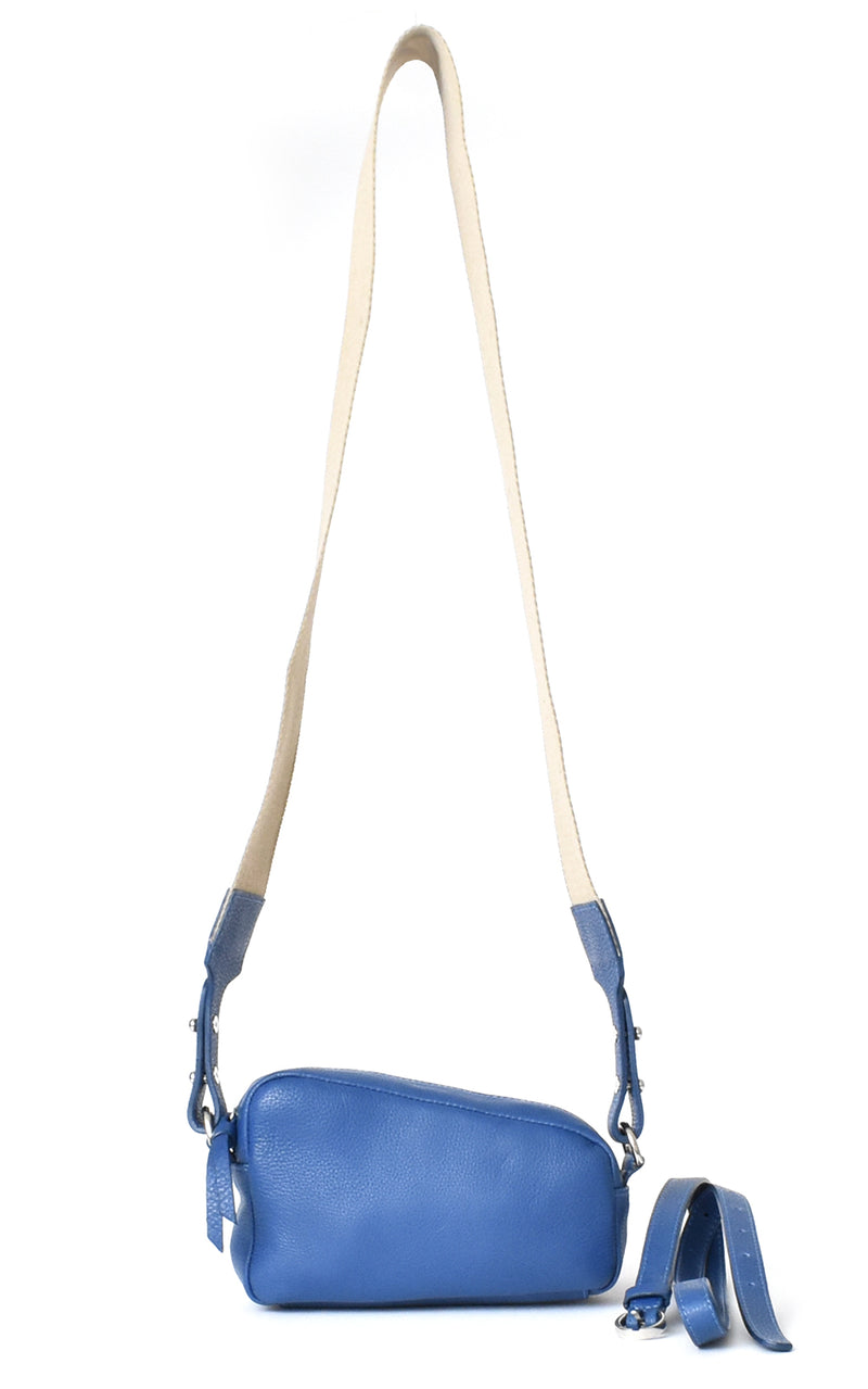 Royal Blue H-ology Leather Belt Bag with Removable Shoulder Strap