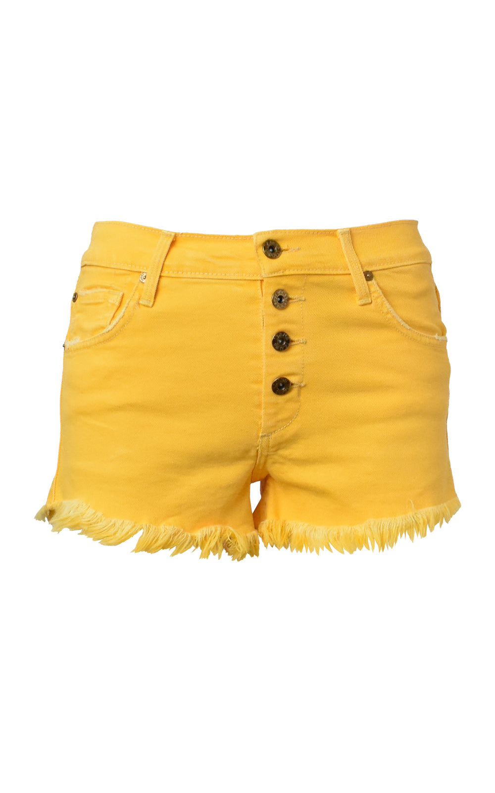 James Jeans Lulu Denim Cutoff Shorts Taffy Yellow