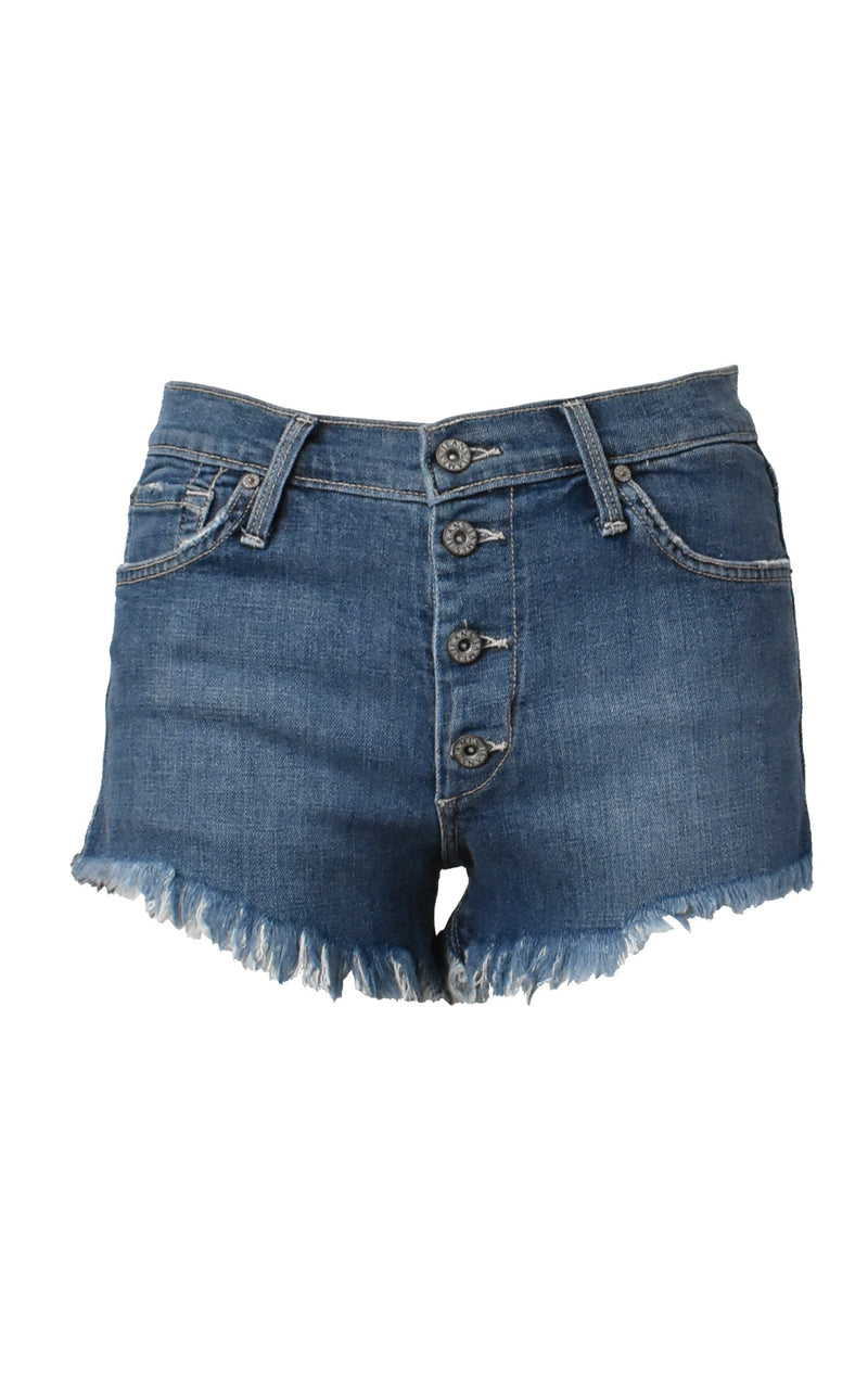James Jeans Lulu Denim Cutoff Shorts Panama Blue