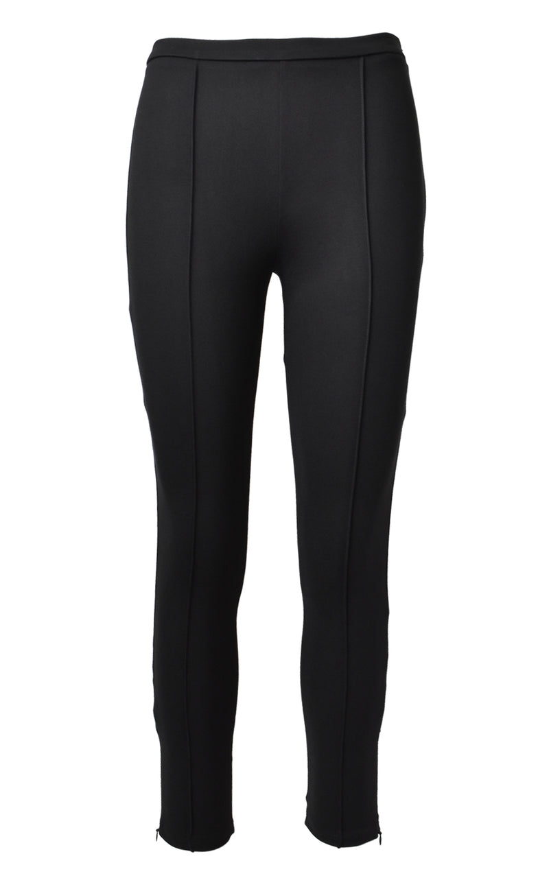Krisa Pin Tuck Black Skinny Pants