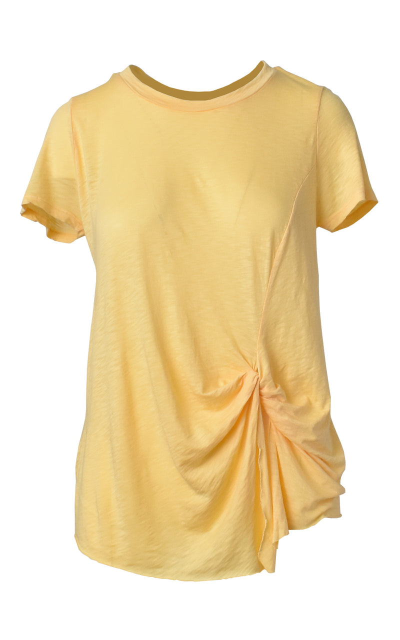 LA Made Eclipse Front Twist Tie T-Shirt Mellow Yellow