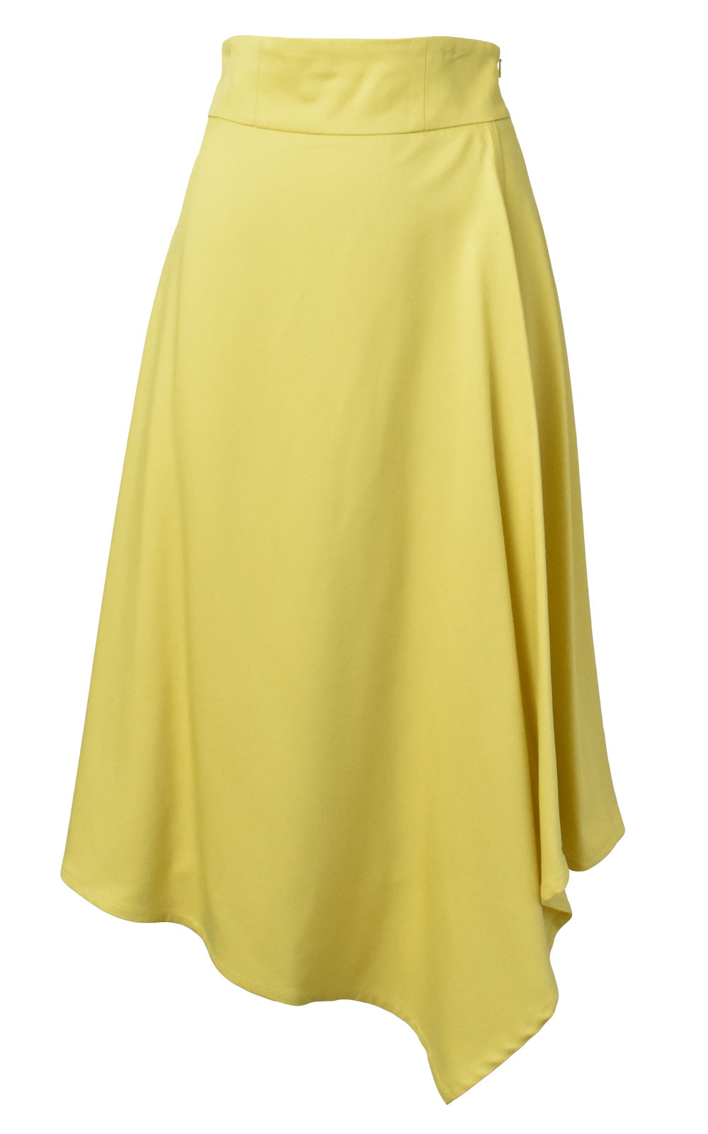 LIE Collection Asymmetrical Back Ribbon Tie Skirt Front Yellow