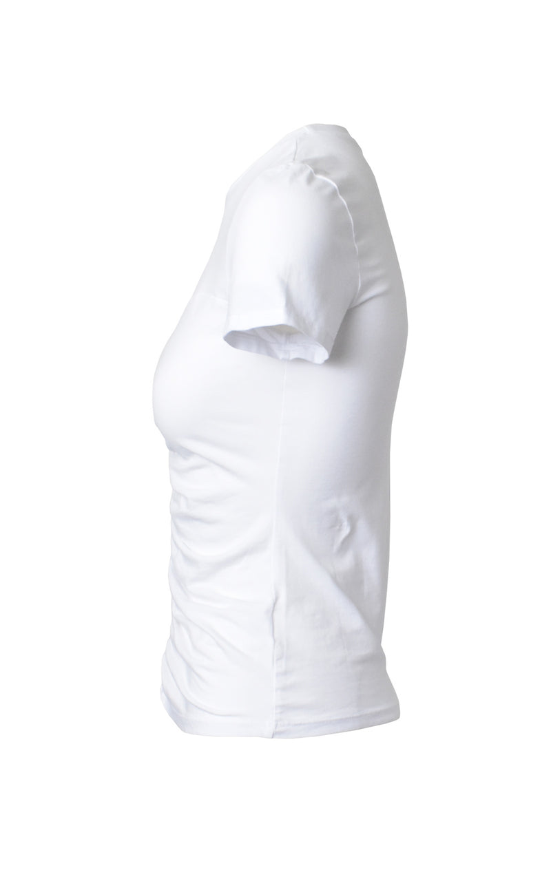 Lanston White Ruched Front T-Shirt