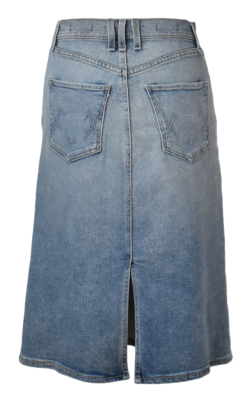 McGuire I Got You Babe Knee Length Denim Jean Skirt Cloud 9
