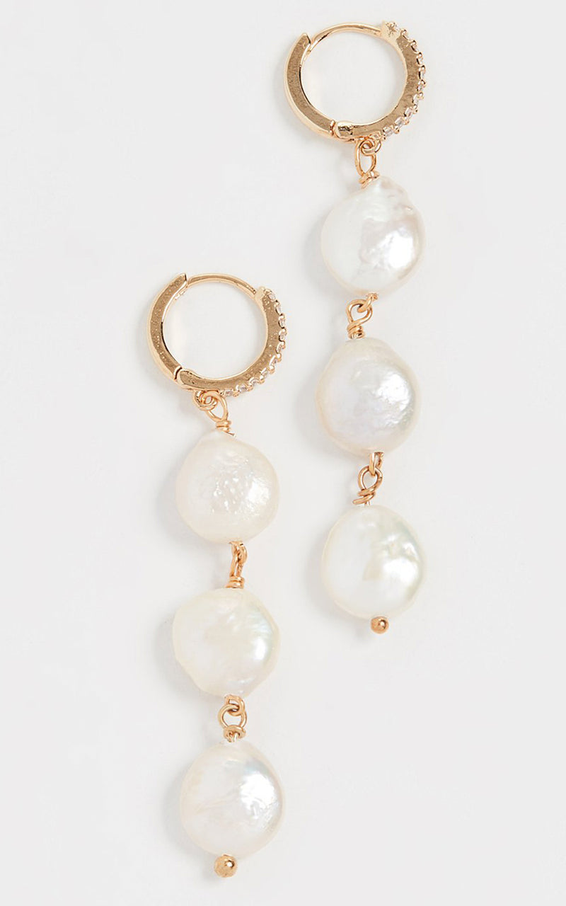 Aurora Baroque Pearl Dangle Earrings