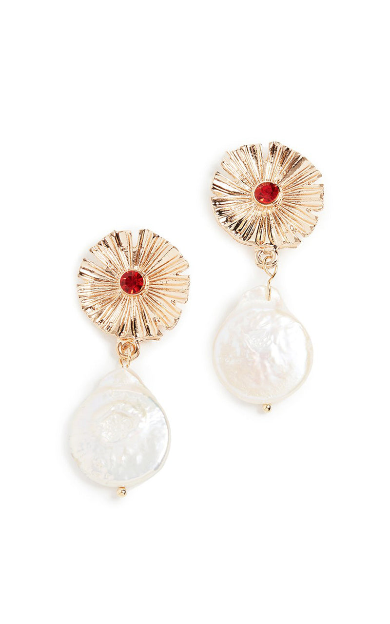 Baroness Cultured Baroque Pearl Drop Earrings