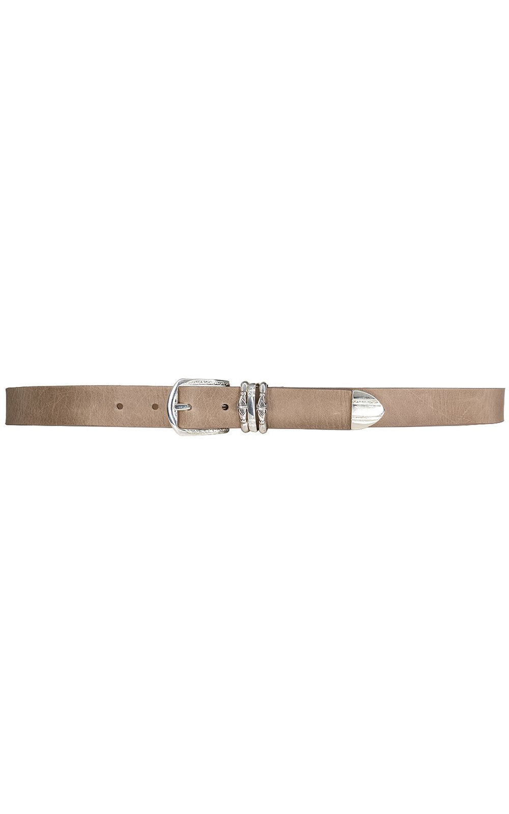 Anabel Engraved Buckle & Tip Western Leather Belt Tan