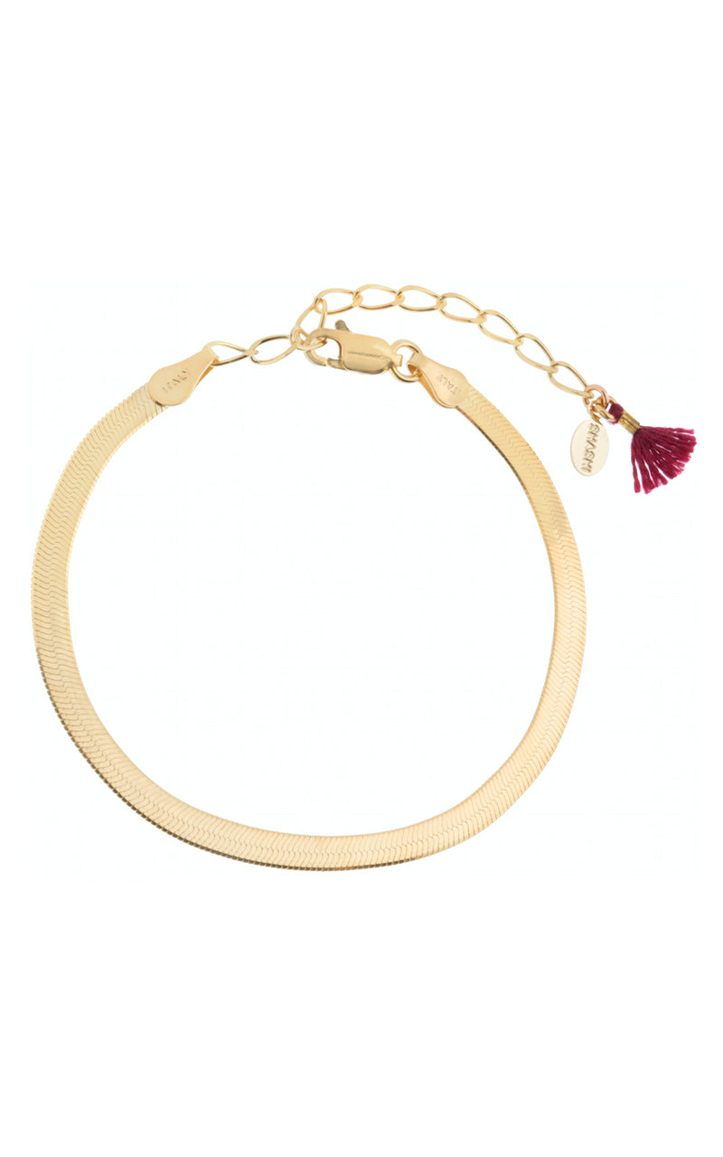 Shashi Lady 18k Gold Filled Herringbone Chain Bracelet