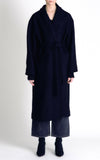 Hidden Forest Market Oversized Long Robe Wool Coat Navy