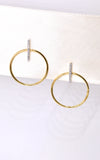 Carrie Elizabeth Gold Vermeil & Diamond Bar Hoop Earrings