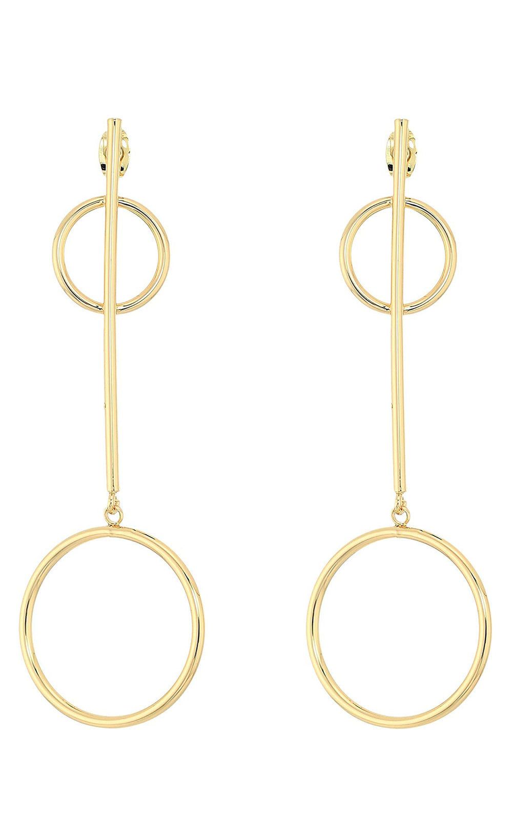 Shashi Khloe 18k Gold Plated Circle Dangle Earrings