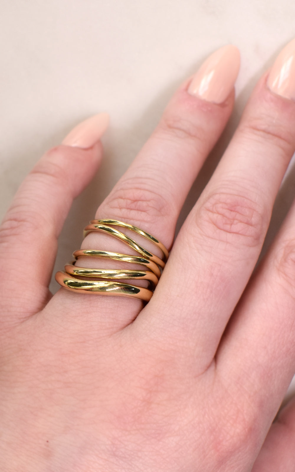 Wavy Ring Stack