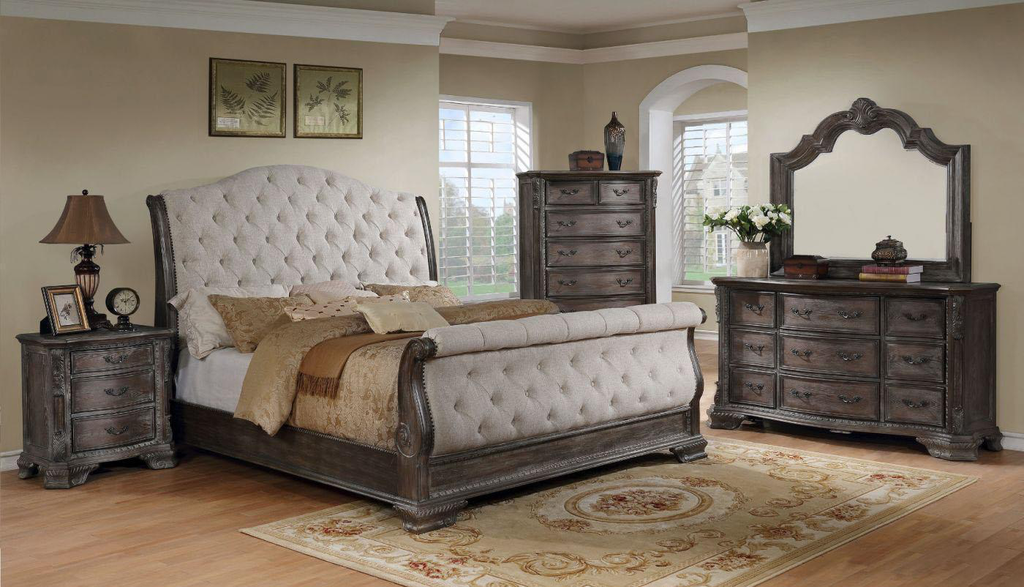 SHEFFIELD GREY SLEIG BEDROOM SET