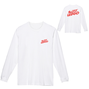 「theLASTWEEKEND」Red Logo Long Sleeve Tee [White] - No.26