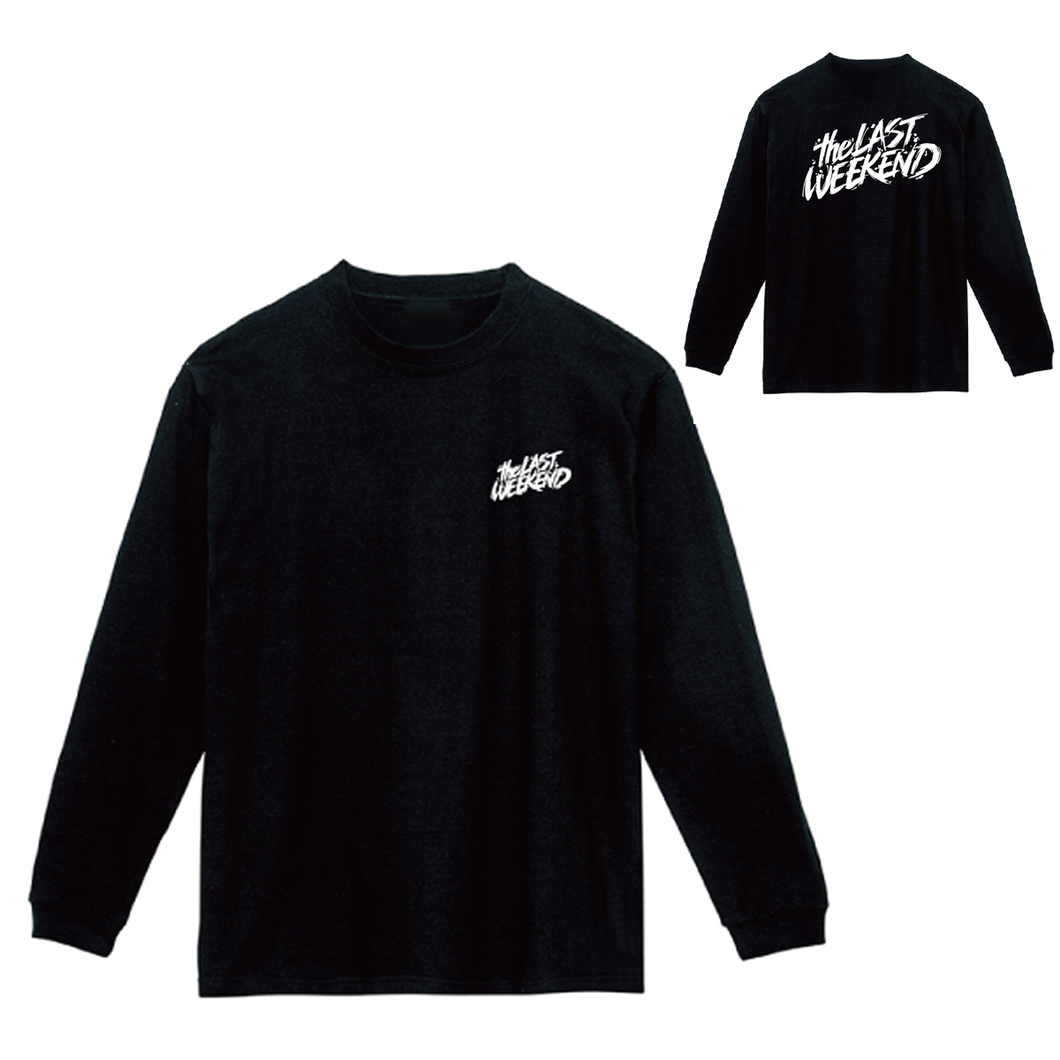 「theLASTWEEKEND」Logo Long Sleeve Tee [Black] - No.25