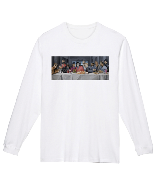 「the LAST DEVOUR」Printing Long Sleeve Tee [White] - No.22