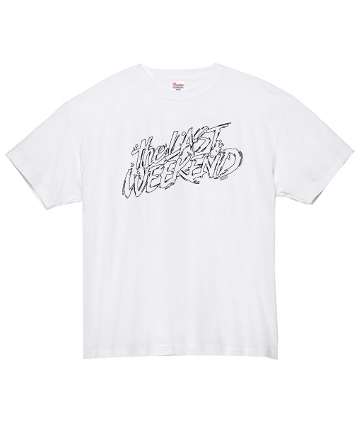 「theLASTWEEKEND」Pencil Big Logo Tee [White] - No.05