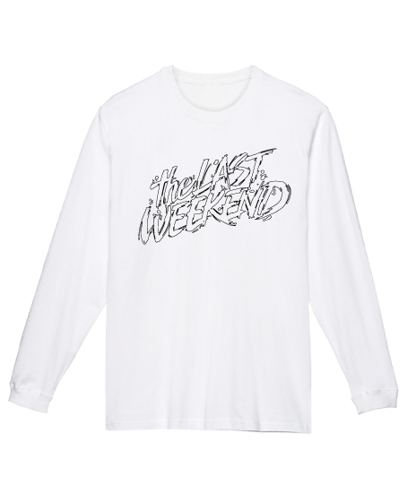 「theLASTWEEKEND」Pencil Big Logo Long Sleeve Tee [White] - No.39