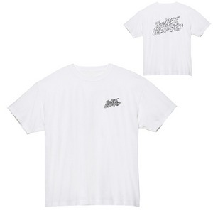 「theLASTWEEKEND」Pencil Logo Tee [White] - No.09