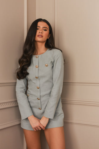 Thick White Ruched Hoodie