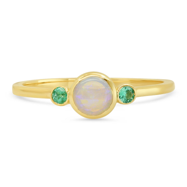 Finn Opal Emerald Ring