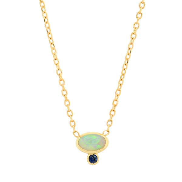 Astra Opal Sapphire Necklace - Rosedale Jewelry
