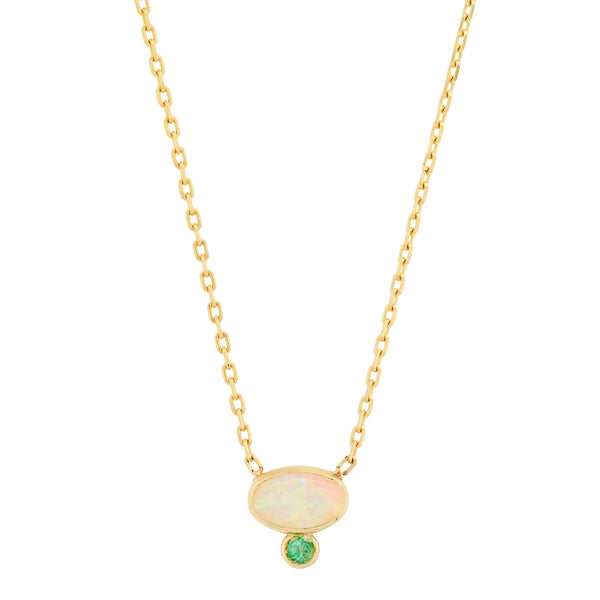 Astra Opal Emerald Necklace - Rosedale Jewelry