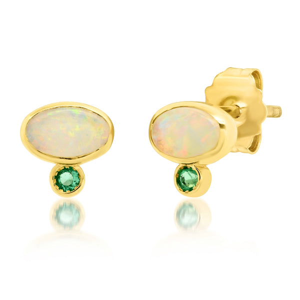 Astra Opal Emerald Earrings