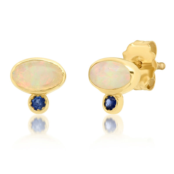 Astra Opal Sapphire Earrings - Rosedale Jewelry