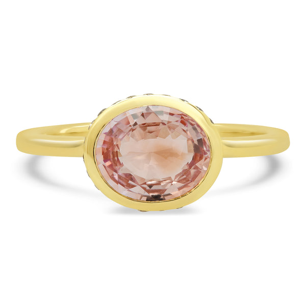 Nucleus Peach Sapphire Ring - Rosedale Jewelry