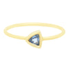 Blue Sapphire Trillion Ring - Rosedale Jewelry