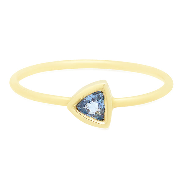 Blue Sapphire Trillion Ring - rosedale-jewelry