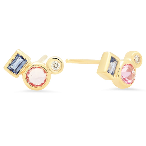 Sapphire Trio Earrings - Rosedale Jewelry