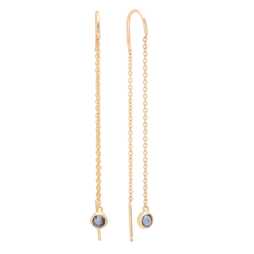 Dancing Blue Sapphire Earrings - Rosedale Jewelry